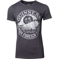Guinness - Heritage Intaglio Raised Printed Men's X-Large T-Shirt - Grey