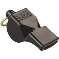 Fox 40 Classic Official Whistle C/W Wrist-Lanyard Black