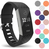 YouSave Activity Tracker Silicone Strap - Large (Black)