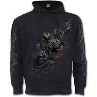 Fatal Attraction Women's Large Side Pocket Stitched Hoodie - Black