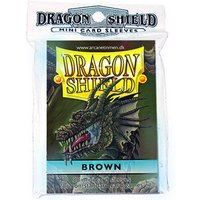 Dragon Shield Japanese size - Brown 50 Sleeves (10 Packs)