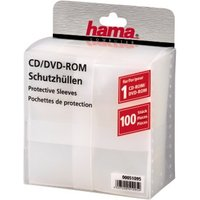 Hama CD/DVD Protective Sleeves 100, transparent