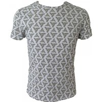 Assassin's Creed Abstergo Logo All-Over Print Medium T-Shirt - Light Grey