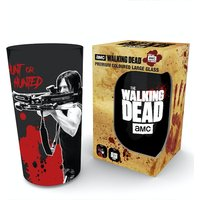The Walking Dead Daryl Black Coloured Glass Premium Large Glass