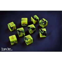 Elder Dice (9D6 Tube) - Yellow/Black Yellow Sign