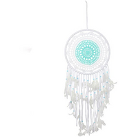 Blue & White Crochet Dreamcatcher