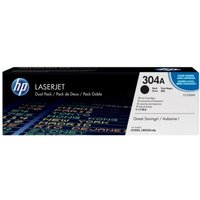 HP CC530AD (304A) Toner black 3.5K pages @ 5% coverage Pack qty 2