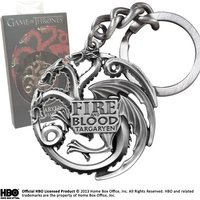 Game of Thrones Gun Metal Targaryen Sigil Keychain
