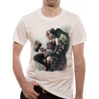 Batman - HQ Wall Art Sublimation Men's Large T-Shirt - White