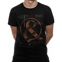 Of Mice And Men - Wired Men's Large T-Shirt - Black