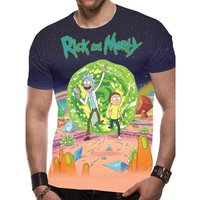 Rick And Morty - Jumbo Portal Men's Large T-Shirt - Multicolour