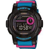 Casio BGD180/2ER Baby-G Multi-Function Digital Watch Black and Blue