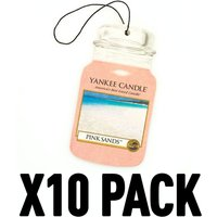 Pink Sands (Pack Of 10) Yankee Candle Car Jar Air Freshener