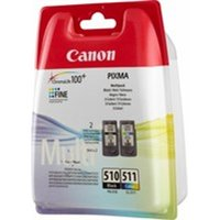Canon 2970B010 (PG-510 CL 511) Printhead multi pack, 220 pages, 9ml, Pack qty 2
