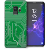 CASEFLEX SAMSUNG GALAXY S9 GREEN CIRCUIT BOARD CASE / COVER (3D)