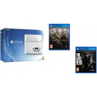 Limited Edition White Sony PlayStation 4 Console PS4 with The Order 1886 & The Last of Us