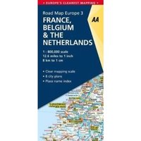 3. France, Belgium & the Netherlands : AA Road Map Europe
