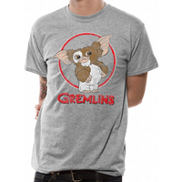 Gremlins - Gizmo Distressed Men's Small T-Shirt - Grey