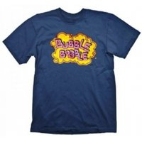 Bubble Bobble Vintage Logo Extra Large Blue T-Shirt