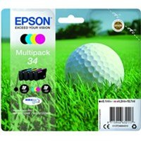 Epson C13T34664010 (34) Ink cartridge multi pack, 6,1ml 3x4,2ml, Pack qty 4