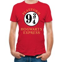 Harry Potter - 9 And 3 Quarters Men's X-Large T-shirt - Red