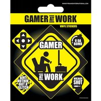 Gamer At Work Vinyl Sticker