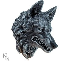 Wolf Head Wall Plaque