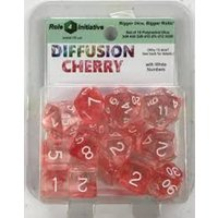Diffusion Cherry Poly 15 Set Dice