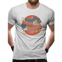Tom And Jerry - Retro Logo Men's X-Large T-shirt - Grey