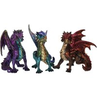 Scaled Squad (Pack Of 3) Dragon Figures