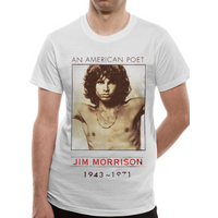 The Doors - American Poet Men's X-Large T-Shirt - White