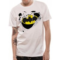 Batman - Torn Logo Men's XX-Large T-Shirt - White