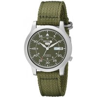 Seiko SNK805K2 5 Mens Automatic Watch Green Dial with Green Fabric Belt