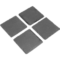 Non-Slip Slate Coasters | M&W 4pc New