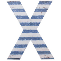 Letter X Wall Plaque