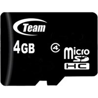 Team 4GB Micro SDHC Class 4 Flash Card with Adapter