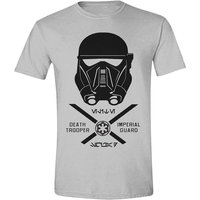 Star Wars Men's Rogue One Imperial Guard Large Grey T-Shirt