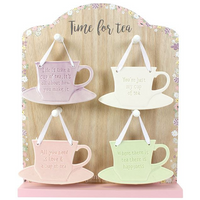 Set of 20 Ceramic Tea Cup Decorations