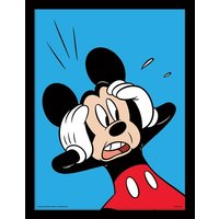 Mickey Mouse - Shocked Framed 30 x 40cm Print