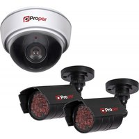 Proper Imitation Security Camera Kit inc 1x Dome Camera 2x IR Cameras
