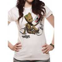 Guardians Of The Galaxy Vol 2 - Groot And Tape Women's XX-Large T-Shirt - White