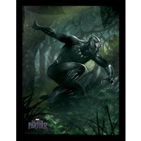 Black Panther - Forest Chase Framed 30 x 40cm Print