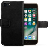 Caseflex iPhone 8 Real Leather Wallet Case - Black