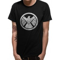 Avengers - Shield Men's Small T-Shirt - Black