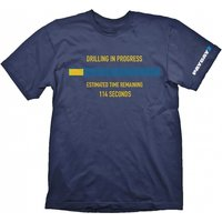 PAYDAY 2 Men's Drilling in Progress Extra Extra Large T-Shirt, Blue