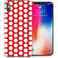 CASEFLEX APPLE IPHONE X RED POLKA DOT CASE / COVER (3D)