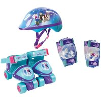 Disney Frozen Quad Skates with Protection Set and Bag