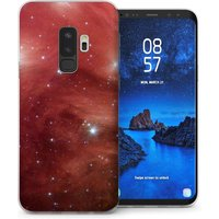 CASEFLEX SAMSUNG GALAXY S9 PLUS RED SPACE CASE / COVER (3D)