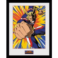 My Hero Academia All Might Action Framed Collector Print