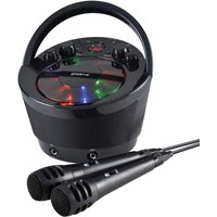 Groov-e Portable Karaoke Boombox with CD Player and Bluetooth Playback Black UK Plug